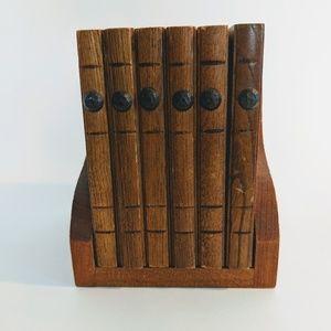 Other - Vintage Wood & Cork Coasters